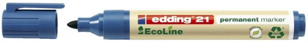 Edding 21 Permanentmarker EcoLine - nachfüllbar, 1,5 - 3 mm, blau