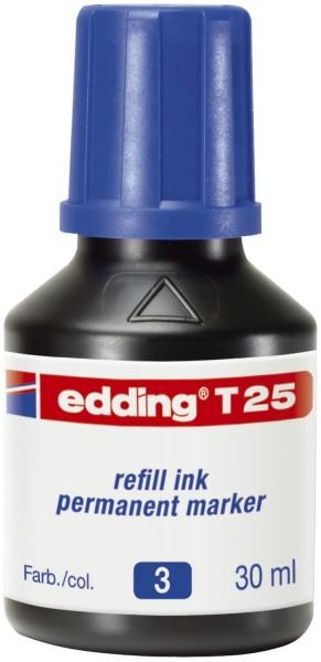 Edding T 25 Nachfülltusche für Permanentmarker, 30 ml, blau