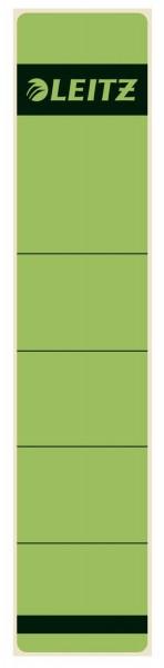 Leitz 1643 Rückenschilder - Papier, kurz/schmal, 10 Stück, grün