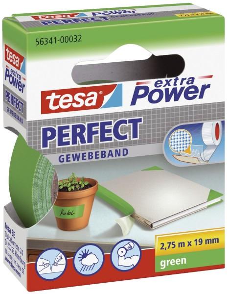 tesa® Gewebeklebeband extra Power Gewebeband, 2,75 m x 19 mm, grün