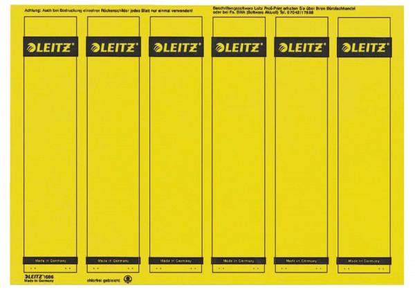 Leitz 1686 PC-beschriftbare Rückenschilder - Papier, kurz/schmal, 150 Stück, gelb