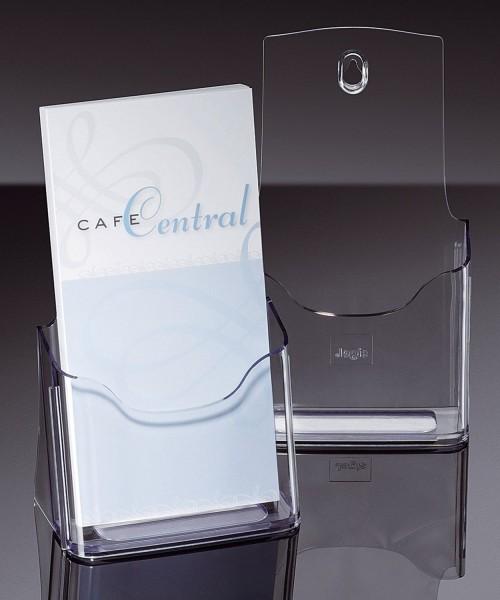 SIGEL Tisch-Prospekthalter acrylic, mit 1 Fach, glasklar, für DL