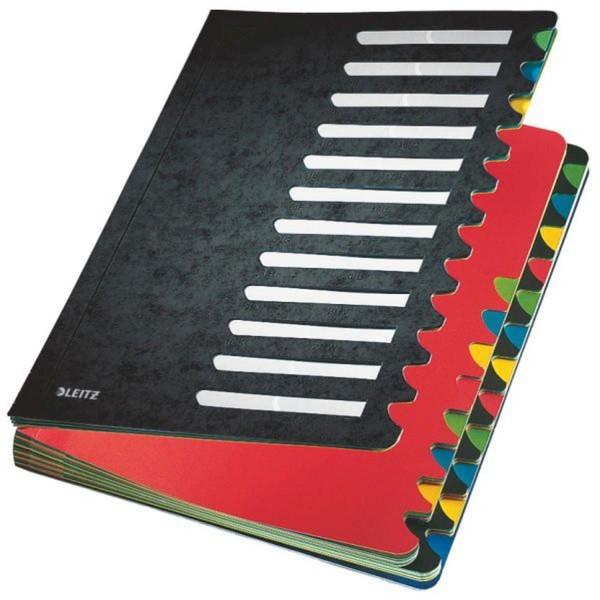 Leitz 5914 Deskorganizer Color 1-24 - 24 Fächer, Karton, schwarz
