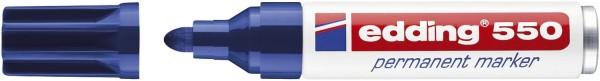 Edding 550 Permanentmarker - nachfüllbar, 3 - 4 mm, blau