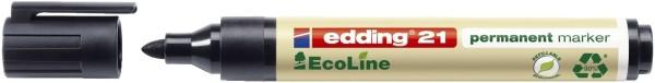 Edding 21 Permanentmarker EcoLine - nachfüllbar, 1,5 - 3 mm, schwarz
