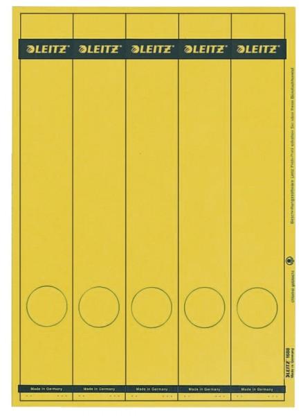 Leitz 1688 PC-beschriftbare Rückenschilder - Papier, lang/schmal, 125 Stück, gelb
