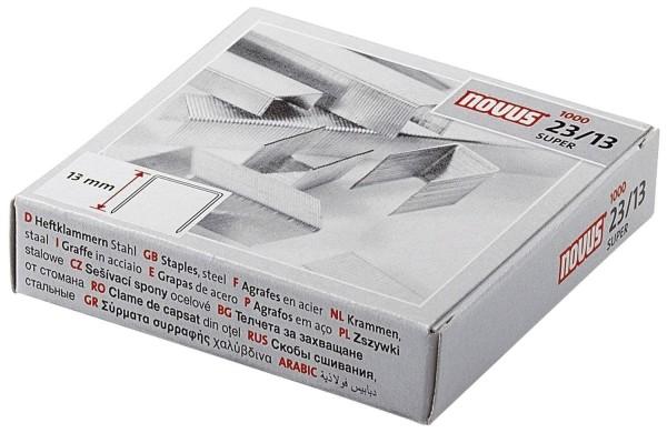 Novus® Heftklammern Nr. 23/13 super - Stahldraht, verzinkt,