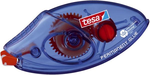 tesa® Roller Kleben Permanent Einweg, Bandgröße (L x B): 8,5 m x 8,4 mm, blau