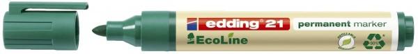 Edding 21 Permanentmarker EcoLine - nachfüllbar, 1,5 - 3 mm, grün