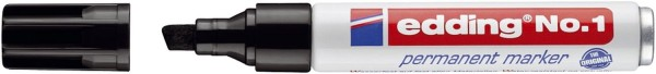 Edding No.1 Permanentmarker - nachfüllbar, 1 - 5 mm, schwarz