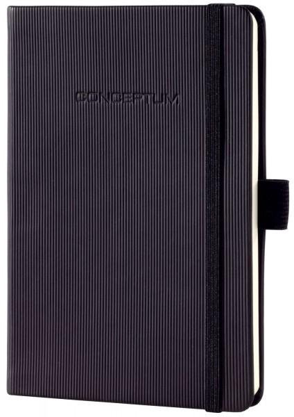SIGEL Notizbuch CONCEPTUM® - ca. A6, kariert, 194 Seiten, schwarz, Hardcover