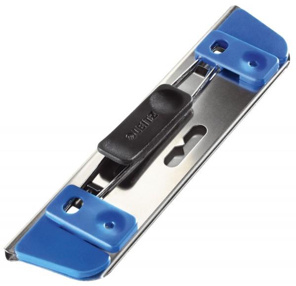 Leitz 1728 Locher Active, für 2 Blatt, blau metallic