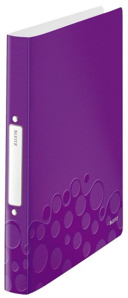Leitz 4257 Ringbuch WOW, A4, PP, 2 Ringe, 25 mm, violett