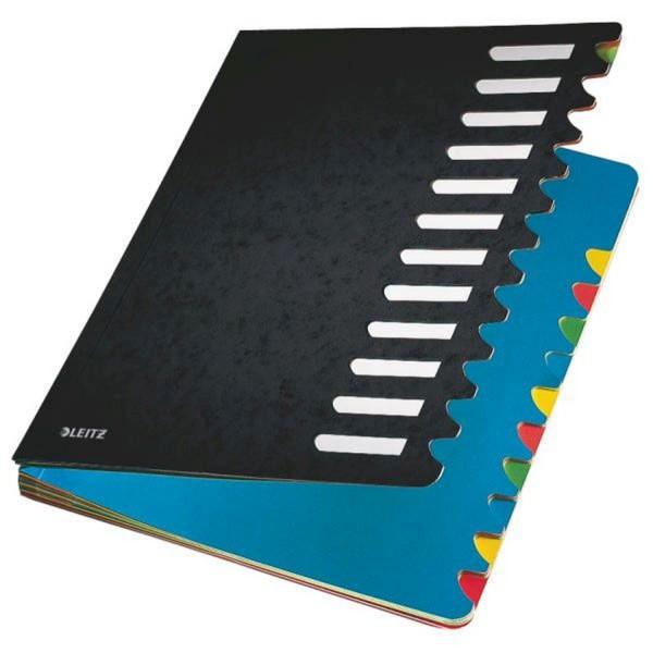 Leitz 5912 Deskorganizer Color 1-12 - 12 Fächer, Karton, schwarz
