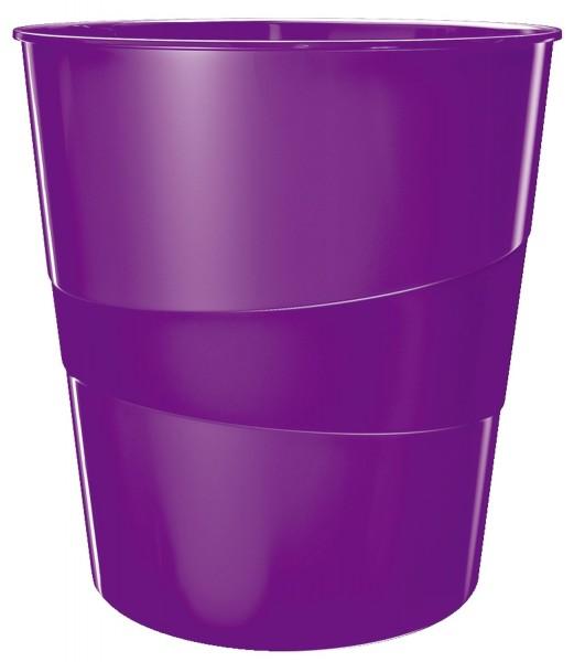Leitz 5278 Papierkorb WOW - 15l, Polystyren, violett metallic