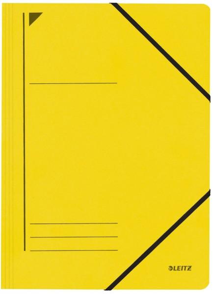 Leitz 3980 Eckspanner - A4, 250 Blatt, Pendarec-Karton (RC), gelb