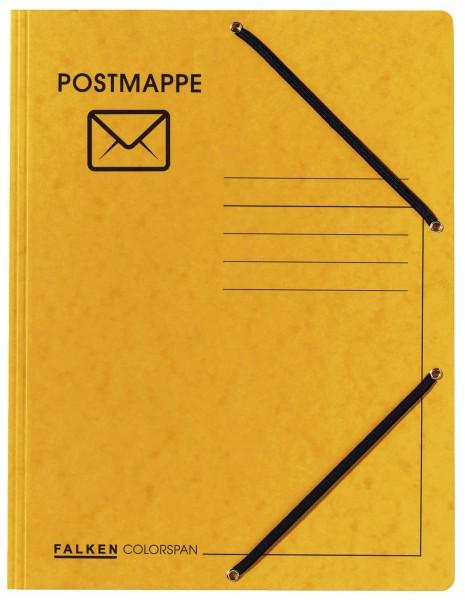 Falken Jurismappe Postmappe - Aufdruck & Symbol, Colorspankarton 335 g/qm, gelb