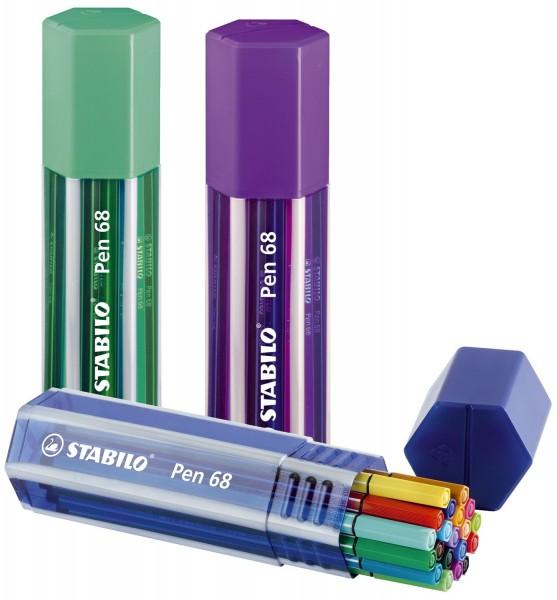 Stabilo® Fasermaler Pen 68 - Box, 20 Farben