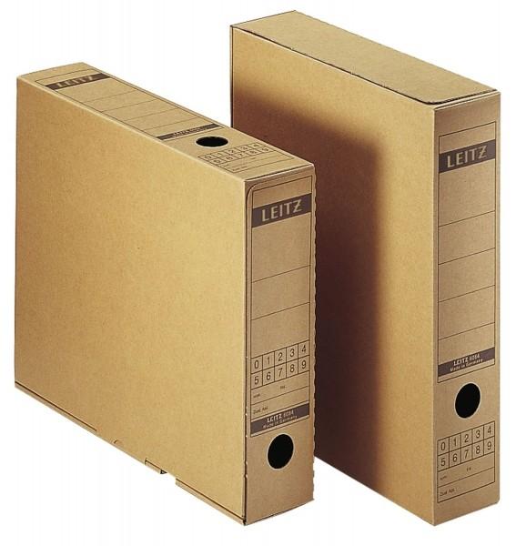 Leitz 6084 Archiv-Schachtel, A4, mit Verschlusslasche, naturbraun
