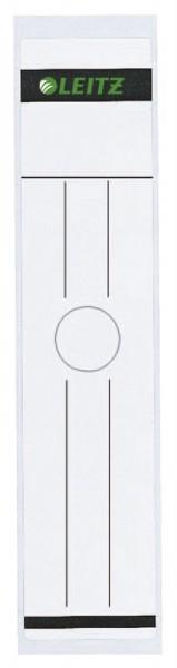 Leitz 6093 Rückenschild für Hängeordner - breit/lang, 10 Stück, weiß