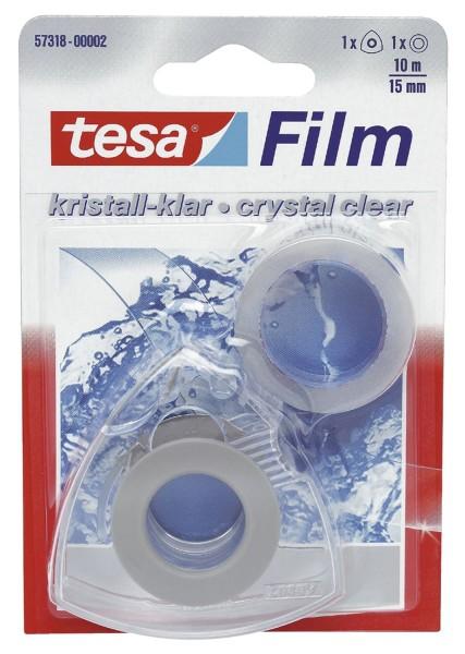 Tesa® Handabroller Easy Cut® mit 1 Rolle tesafilm® kristall-klar 10m:15mm