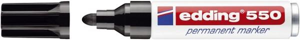 Edding 550 Permanentmarker - nachfüllbar, 3 - 4 mm, schwarz