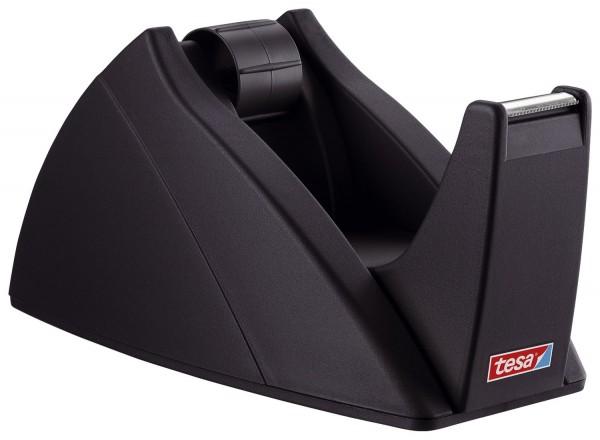 tesa® Tischabroller für Klebefilm tesa Easy Cut®, 66 m x 25 mm, schwarz Abroller