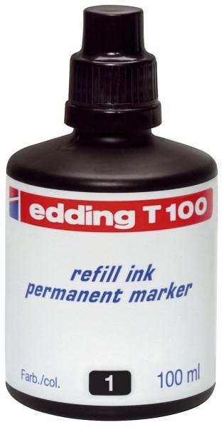 Edding T 100 - Nachfülltusche, 100 ml, schwarz