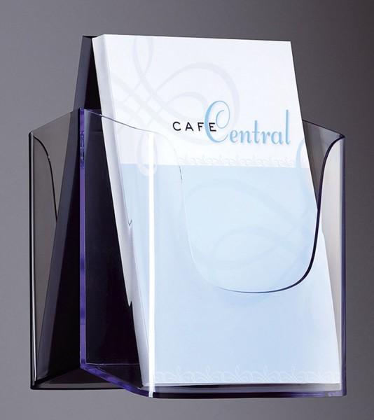 SIGEL Wand-Prospekthalter acrylic, mit 1 Fach, glasklar, für A5