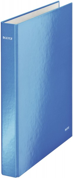 Leitz 4241 Ringbuch WOW, A4 maxi, PP, 2 Ringe Ø25 mm, blau metallic