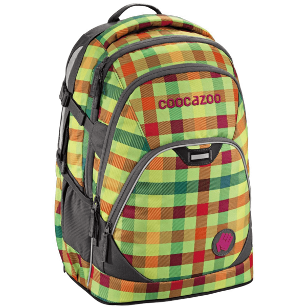 "Coocazoo Rucksack ""EvverClevver2"", Hip To Be Square Green"