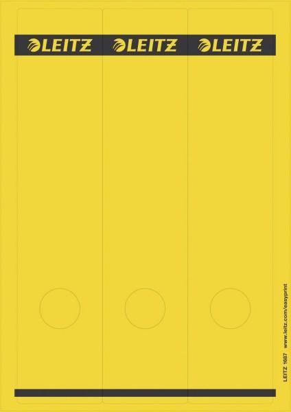 Leitz 1687 PC-beschriftbare Rückenschilder - Papier, lang/breit, 75 Stück, gelb