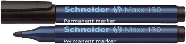 Schneider Permanentmarker Maxx 130 - Rundspitze, 1-3 mm, nachfüllbar, schwarz