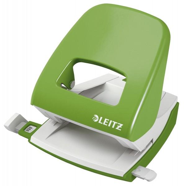 Leitz 5008 Bürolocher NeXXt, Metall, 30 Blatt, hellgrün