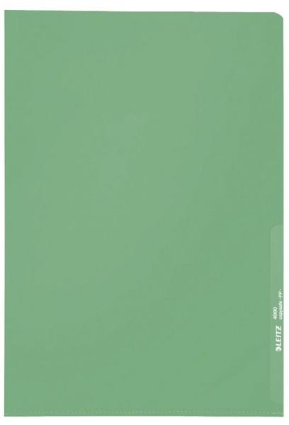 Leitz 4000 Standard Sichthülle A4 PP-Folie, genarbt, grün, 0,13 mm