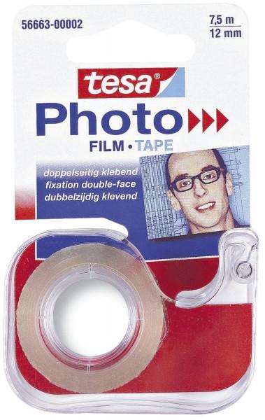 tesa® Abroller für doppelseitigen Klebefilm Photo Film, 7,5 m x 12 mm, transparent