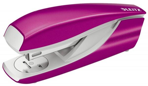 Leitz 5502 Büroheftgerät NeXXt, Metall, 30 Blatt, pink metallic