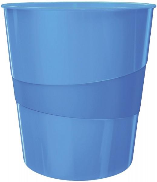 Leitz 5278 Papierkorb WOW - 15l, Polystyren, blau metallic