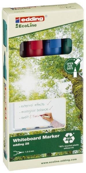 Edding 28 Boardmarker EcoLine - nachfüllbar,1,5 - 3 mm, sortiert