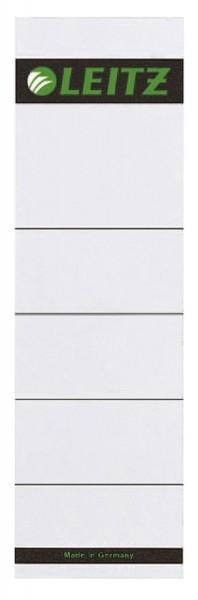 Leitz 1607 Rückenschilder zum Einstecken - Karton, kurz/breit, 10 Stück, lichtgrau