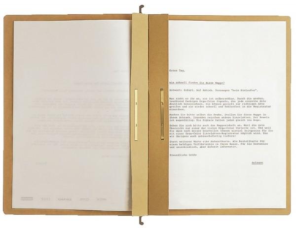 Leitz 1987 Hängehefter ALPHA® Zweifalz, kfm. und Amtsheftung, Natronkarton, naturbraun