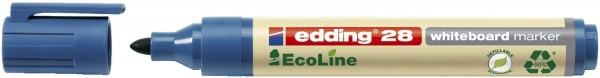 Edding 28 Boardmarker EcoLine - nachfüllbar, 1,5 - 3 mm, blau