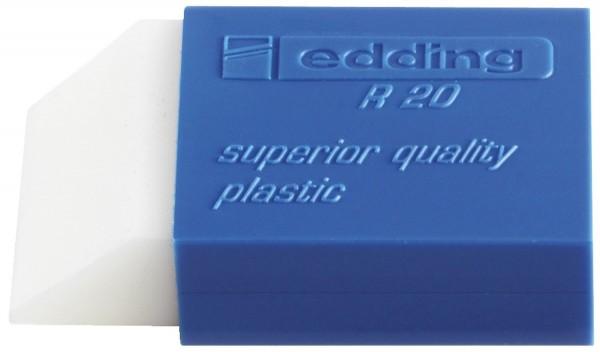 Edding R 20 Radierer, Kunststoff, 24 x 45 x 10 mm