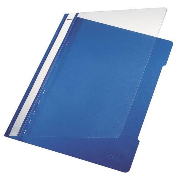 Leitz 4191 Schnellhefter - A4, langes Beschriftungsfeld, PVC, blau