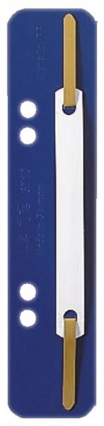 Leitz 3710 Einhänge-Heftstreifen PP, kurz - blau, 25 Stück