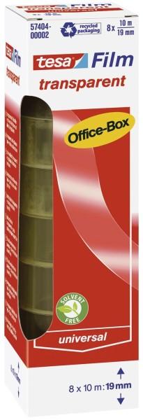 tesa® Klebefilm Office Box - transparent 8 St., Bandgröße (L x B): 10 m x 19 mm