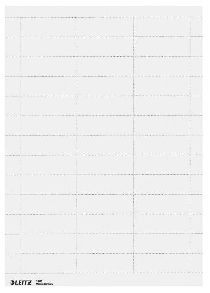 Leitz 1900 Blanko-Schildchen, PC-beschriftbar, Karton, 975 Stück, weiß
