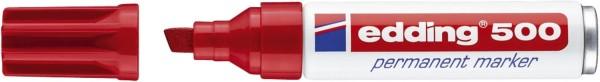 Edding 500 Permanentmarker - nachfüllbar, 2 - 7 mm, rot