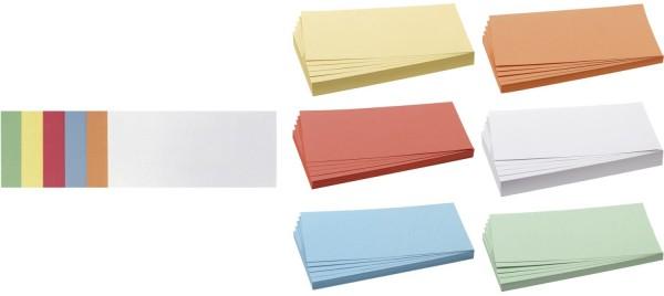 Franken Moderationskarte Rechteck, 205 x 95 mm, sortiert, 500 Stück