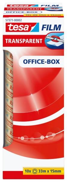 tesa® Klebefilm Office Box - transparent 10 St., Bandgröße (L x B): 33 m x 15 mm